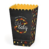 Oh Baby - Fall - Personalized Baby Shower Popcorn Favor Treat Boxes