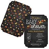Oh Baby - Fall - Shaped Baby Shower Invitations