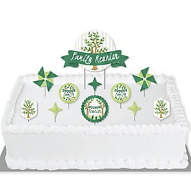 Family Tree Reunion - Family Gathering Party Cake Decorating Kit - Family Reunion Cake Topper Set - 11 Pieces