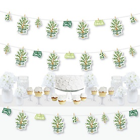 Family Tree Reunion - Family Gathering Party DIY Decorations - Clothespin Garland Banner - 44 Pieces