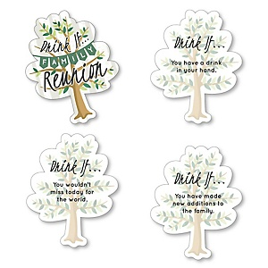 Family Tree Reunion - Drink If Family Gathering Party Game - Set of 24