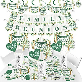 Family Tree Reunion - Family Gathering Party Supplies - Banner Decoration Kit - Fundle Bundle
