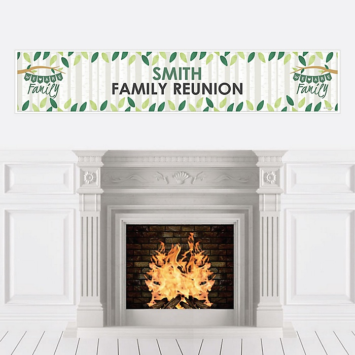 Family Tree Reunion - Personalized Family Gathering Party Banner