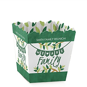 Family Tree Reunion - Party Mini Favor Boxes - Personalized Family Gathering Party Treat Candy Boxes - Set of 12