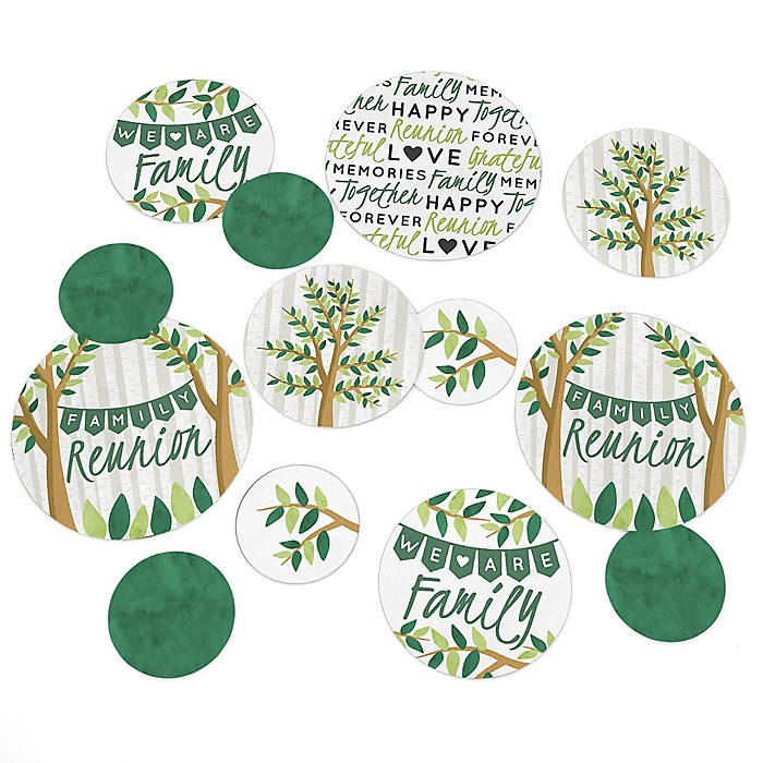 Family Tree Reunion - Family Gathering Party Giant Circle Confetti - Family Gathering Party Decorations - Large Confetti 27 Count