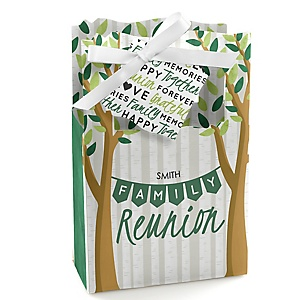 Family Tree Reunion - Personalized Family Gathering Party Favor Boxes - Set of 12