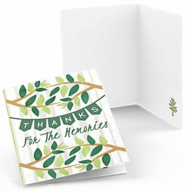 Family Tree Reunion - Set of 8 Family Gathering Party Thank You Cards