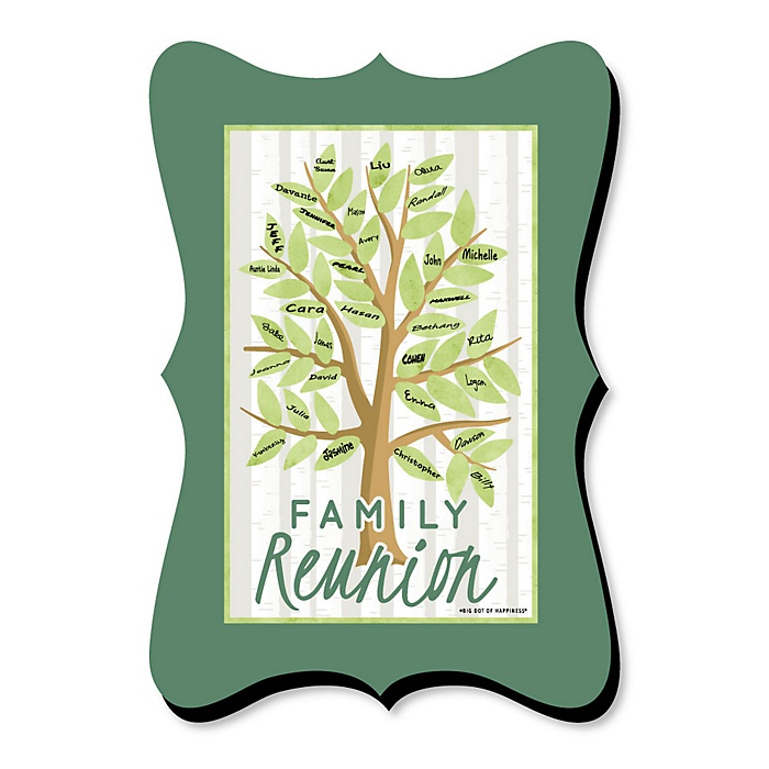 Family Tree Reunion - Unique Alternative Guest Book - Family Gathering Party Signature Mat