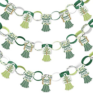 Family Tree Reunion - 90 Chain Links and 30 Paper Tassels Decoration Kit - Family Gathering Party Paper Chains Garland - 21 feet