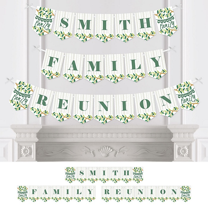 Family Tree Reunion - Personalized Family Gathering Party Bunting Banner & Decorations