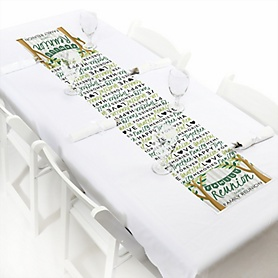 "Family Tree Reunion - Personalized Petite Family Gathering Party Table Runner - 12"" x 60"""
