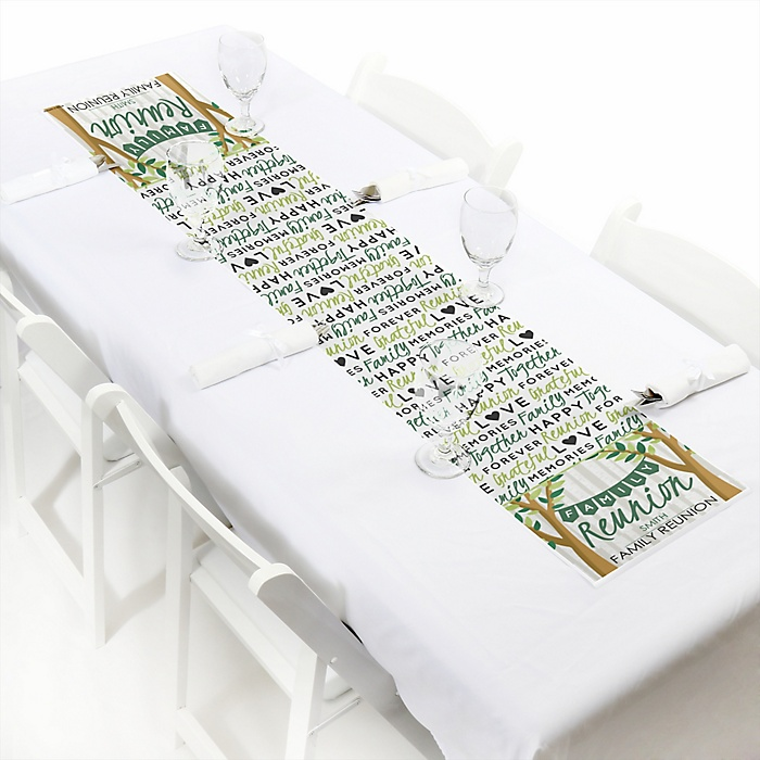 """Family Tree Reunion - Personalized Petite Family Gathering Party Table Runner - 12"""" x 60"""""""