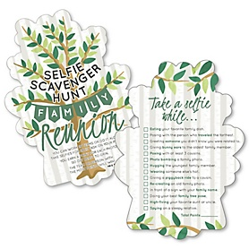 Family Tree Reunion - Selfie Scavenger Hunt - Family Gathering Party Game - Set of 12