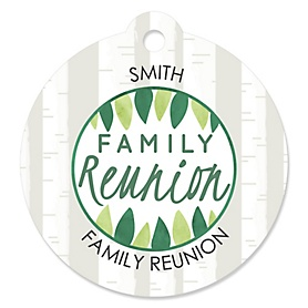 Family Tree Reunion - Personalized Family Gathering Party Gift Tags - 20 ct