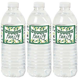 Family Tree Reunion - Family Gathering Party Water Bottle Sticker Labels - Set of 20