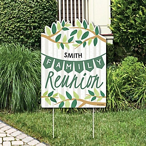 Family Tree Reunion - Party Decorations - Family Gathering Party Personalized Welcome Yard Sign