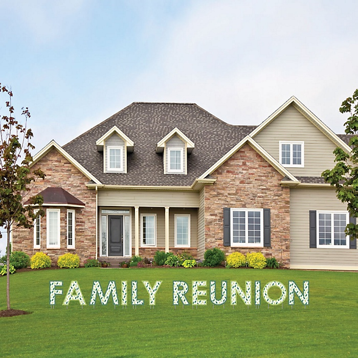Family Tree Reunion - Yard Sign Outdoor Lawn Decorations - Family Gathering Party Yard Signs - Family Reunion