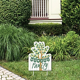 Family Tree Reunion - Outdoor Lawn Sign - Family Gathering Party Yard Sign - 1 Piece