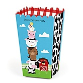 Farm Animals - Personalized Party Popcorn Favor Treat Boxes