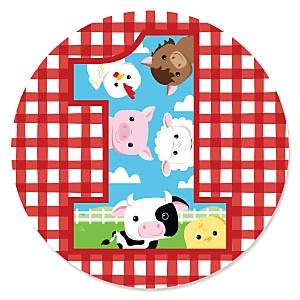 1st Birthday Farm Animals - Barnyard First Birthday Party Theme