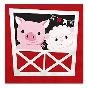 Farm Animals - Barnyard Baby Shower or Birthday Party Luncheon Napkins - 16 ct