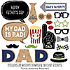 My Dad is Rad - 20 Piece Photo Booth Props Kit