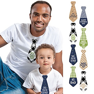 My Dad is Rad Tie Stickers - Set of 8 Father's Day Necktie Stickers
