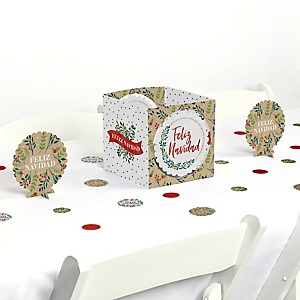 Feliz Navidad - Holiday and Spanish Christmas Party Centerpiece & Table Decoration Kit