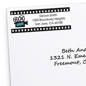 Movie - Hollywood Party - Personalized Red Carpet Party Return Address Labels - 30 ct