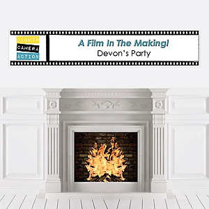 Movie - Hollywood Party - Personalized Red Carpet Party Banner