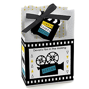 Movie - Hollywood Party - Personalized Red Carpet Party Favor Boxes - Set of 12