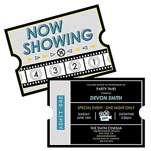 Movie - Hollywood Party - Personalized Red Carpet Party Invitations - Set of 12