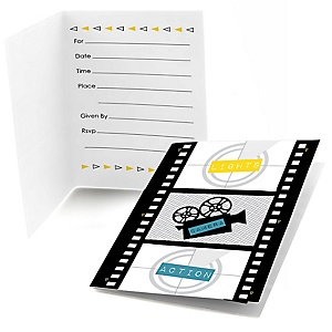 Movie - Hollywood Party - Red Carpet Party Fill In Invitations - 8 ct