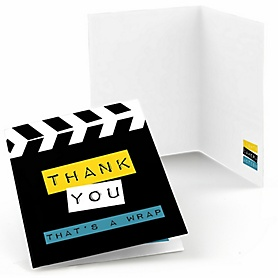 Movie - Hollywood Party - Red Carpet Party Thank You Cards - 8 ct