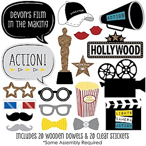 Movie - Hollywood Party - 20 Piece Red Carpet Party Photo Booth Props Kit