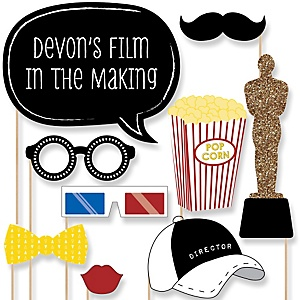 A film in the making graduation theme bigdotofhappiness movie hollywood party 20 piece red carpet party photo booth props kit solutioingenieria Image collections
