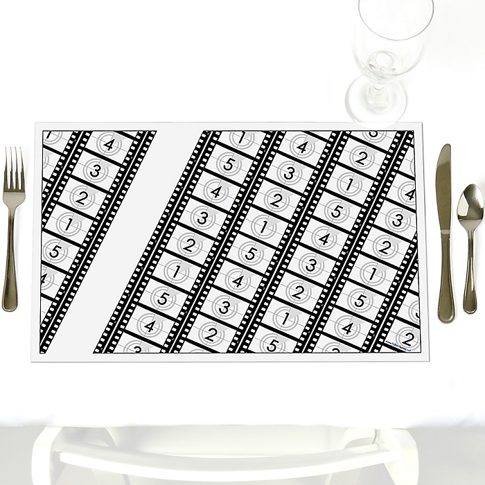 Movie - Hollywood Party - Party Table Decorations - Party Placemats - Set of 12