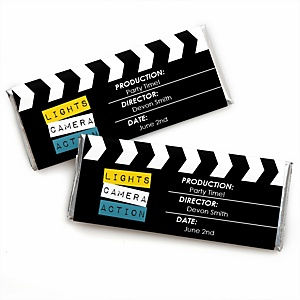 Movie - Personalized Candy Bar Wrappers Hollywood Party Favors - Set of 24