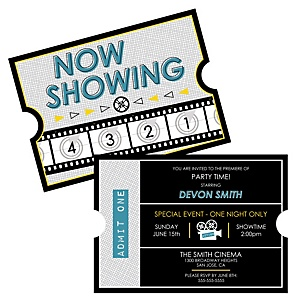 Movie - Hollywood Party - Personalized Everyday Party Invitations - Set of 12