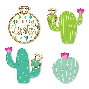 Final Fiesta - DIY Shaped Last Fiesta Bachelorette Party Cut-Outs - 24 ct