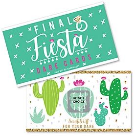 Final Fiesta - Last Fiesta Bachelorette Party Game Scratch Off Dare Cards - 22 Count