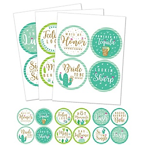 Final Fiesta - Last Fiesta Bachelorette Party Funny Name Tags - Party Badges Sticker Set of 12