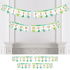Final Fiesta - Personalized Last Fiesta Bachelorette Party Bunting Banner and Decorations