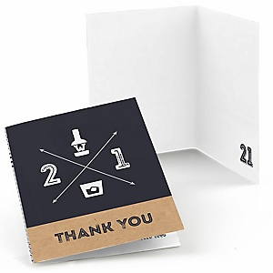 Finally 21 - 21st Birthday - Birthday Party Thank You Cards - 8 ct