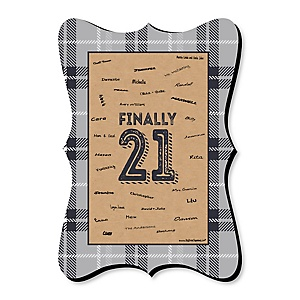 Finally 21 - Unique Alternative Guest Book - 21st Birthday Party Signature Mat Gift