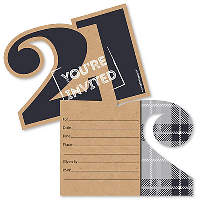 Finally 21 shaped fill in invitations 21st birthday party finally 21 shaped fill in invitations 21st birthday party invitation cards with envelopes set of 12 stopboris Image collections