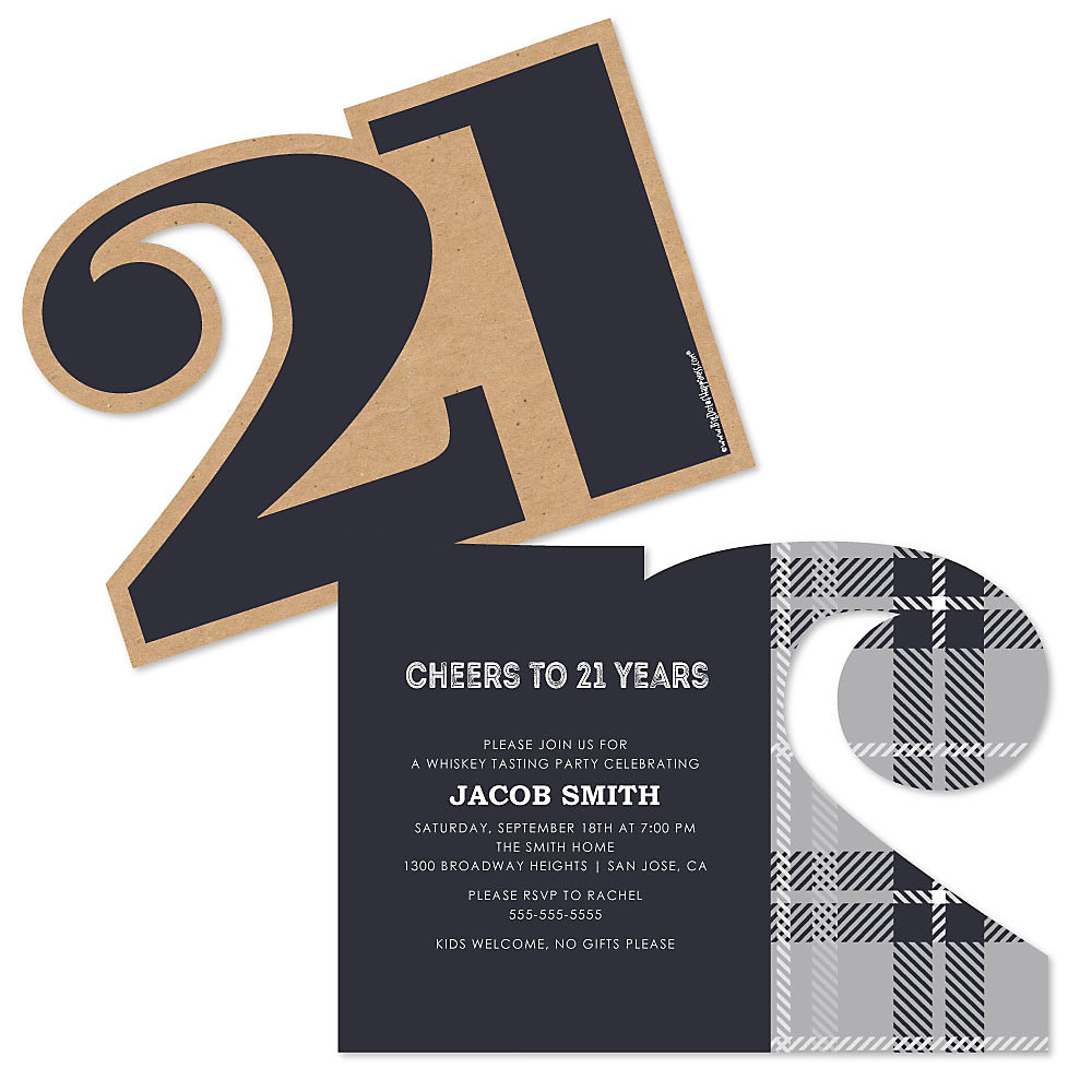 Finally 21 - 21st Birthday - Shaped Birthday Party Invitations ...