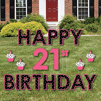 finally 21 girl yard sign outdoor lawn decorations