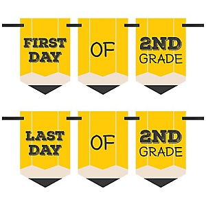 2nd Grade - Back To School - First & Last Day of School Bunting Banner Photo Prop