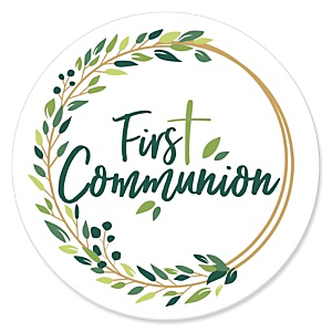 First Communion Elegant Cross - Religious Party Theme